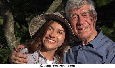 Smiling Happy Hispanic Family