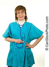 Smiling Healthcare Worker - Friendly Nurse with a...
