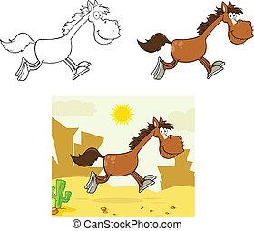 Smiling Horse Cartoon Character