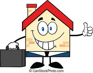 Smiling House Businessman