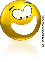 Smiling icon, yellow