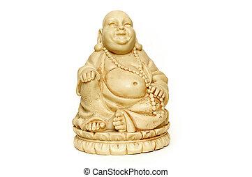 Smiling Ivory Buddha