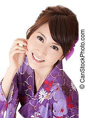 Smiling Japaneses woman