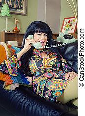 Smiling Lady on Phone