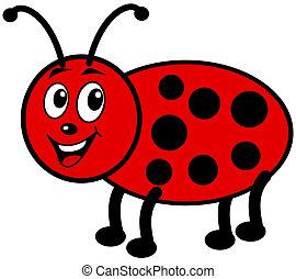 smiling ladybug