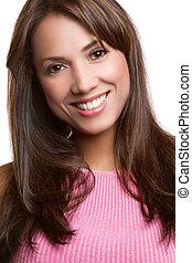 Smiling Latin Woman - Beautiful smiling latin woman portrait
