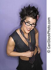 Smiling latina woman.