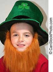Smiling Leprechaun Boy
