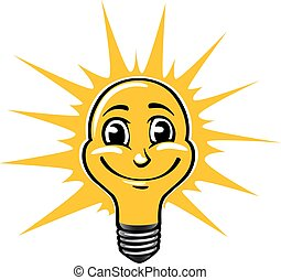 Smiling light bulb