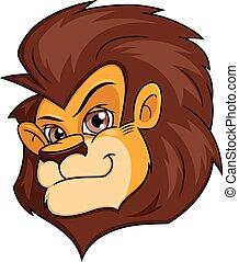 Smiling lion head