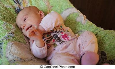 smiling little baby girl