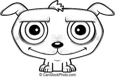 Smiling Little Cartoon Dog
