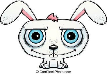 Smiling Little Cartoon Rabbit
