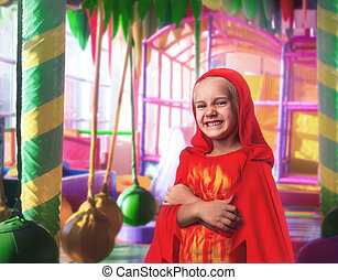 Smiling little girl in costume