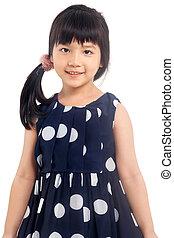 Smiling little girl isolated