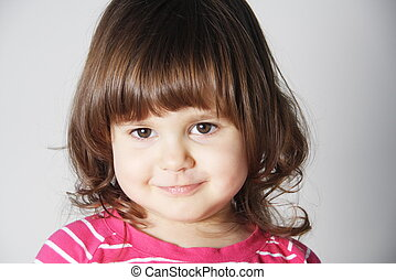 Smiling Little Girl Portrait