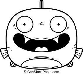 Smiling Little Piranha - A cartoon illustration of a piranha...
