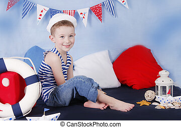 Smiling little sailor