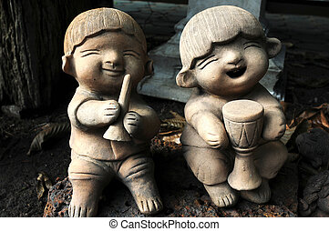 Boy and girl in thai culture greeting we call wai and say thai greeting doll m4hsunfo Gallery