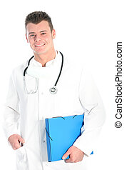 Smiling male doctor or physician