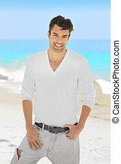 Smiling male model