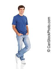male model posing