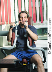 Smiling man at exercise