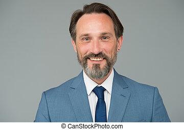 Smiling man good looking businessman portrait, optimism and ...