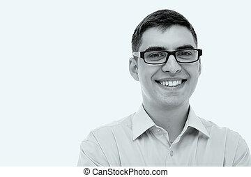 Smiling man headshot