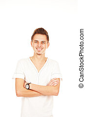 smiling man isolated on a white background