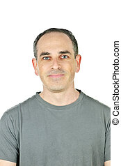 Smiling man - Portrait of casual smiling man in t-shirt