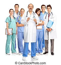 Smiling medical doctors