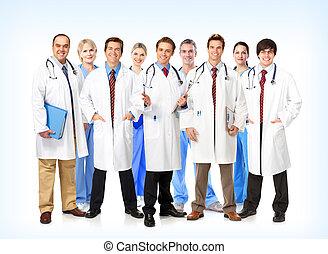 Smiling medical doctors team. - Group of smiling medical...