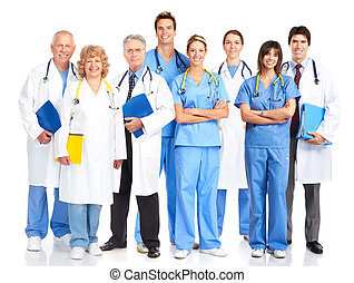 doctors - Smiling medical doctors with stethoscopes....