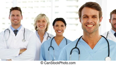 Smiling medical team