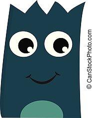 Smiling monster vector or color illustration