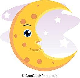 Smiling moon - Vector of a Smiling Moon Mascot