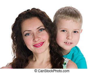 Smiling mother with her son
