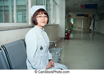 Smiling nurse at work
