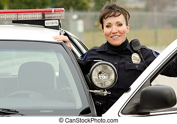smiling officer - a friendly and smiling Hispanic female...