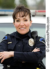 smiling officer - a friendly and smiling Hispanic female ...