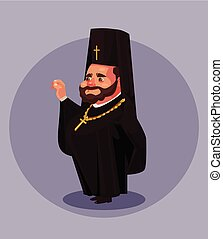 Smiling old beard orthodoxy priest pastor pope bishop...