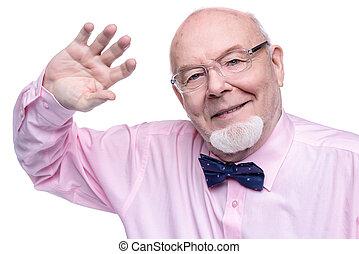 smiling old gentleman
