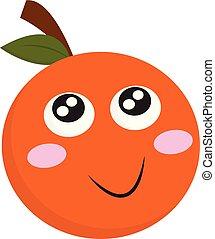 Smiling orange vector or color illustration