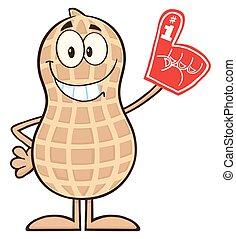 Smiling Peanut Cartoon Character