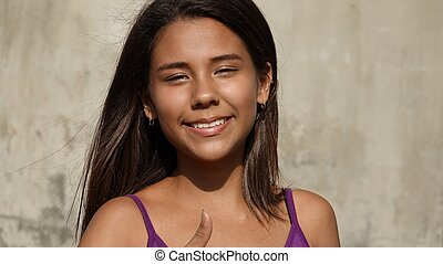Smiling Peruvian Girl