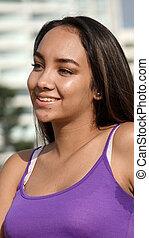 Smiling Peruvian Teenager Girl