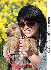 Smiling Pet Owner