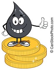 Smiling Petroleum Or Oil Drop