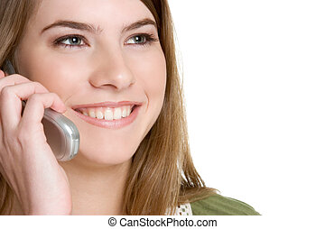 Smiling Phone Girl